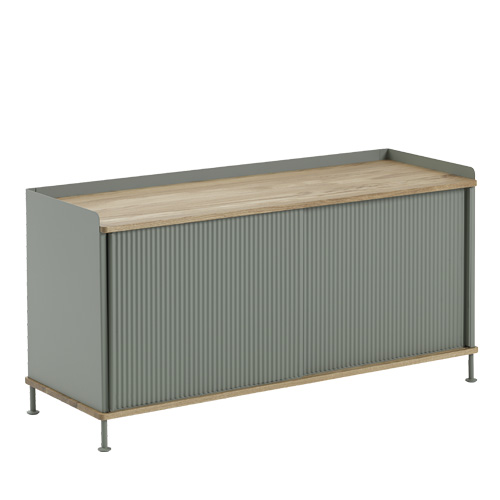 Enfold Sideboard Low Oak/Dusty Green