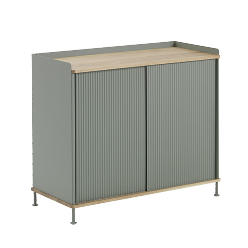 Enfold Sideboard Tall Oak/Dusty Green
