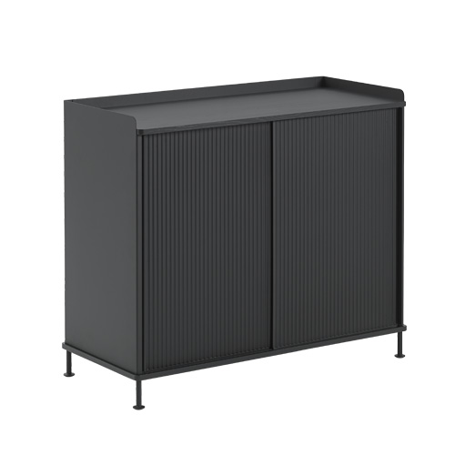 Enfold Sideboard Tall Black/Black