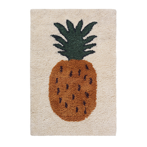 Fruiticana Tufted Pineapple Rug Small [주문 후 3개월 소요]