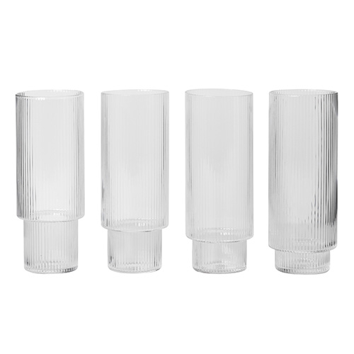 Ripple Long Drink Glasses Set of 4  11월 초 입고