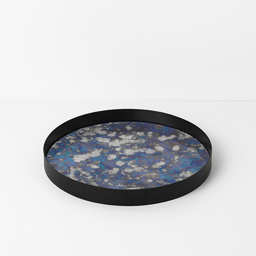 Coupled Tray Round Blue Large [주문 후 3개월 소요]
