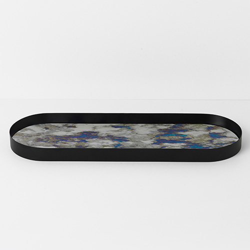 Coupled Tray Oval Blue Large