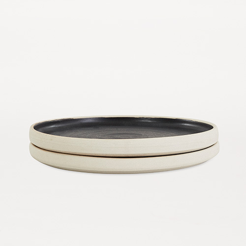 Otto Plate Black L Set of 2 (30% sale)