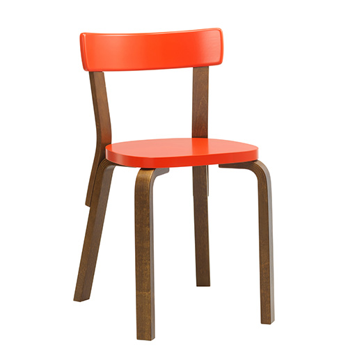 Chair 69 Bright Red/Walnut Stained Birch [주문후 5개월 소요] (5% Discount 5.21-6.8)