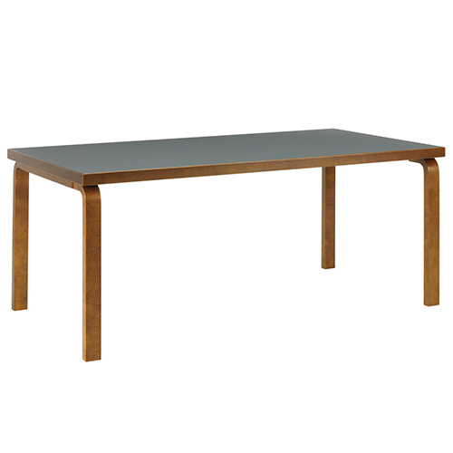 Aalto Table 83 Smokey Blue/Walnut Stained Birch  주문후 5개월 소요