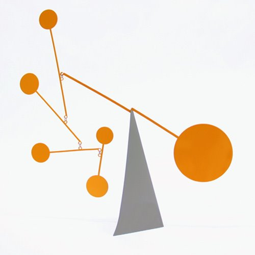 Standing Circles Desktop Mobile Orange/Grey