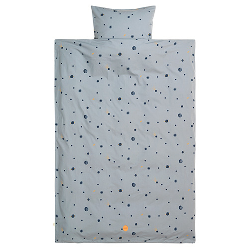 Moon Bedding Faded Blue Single