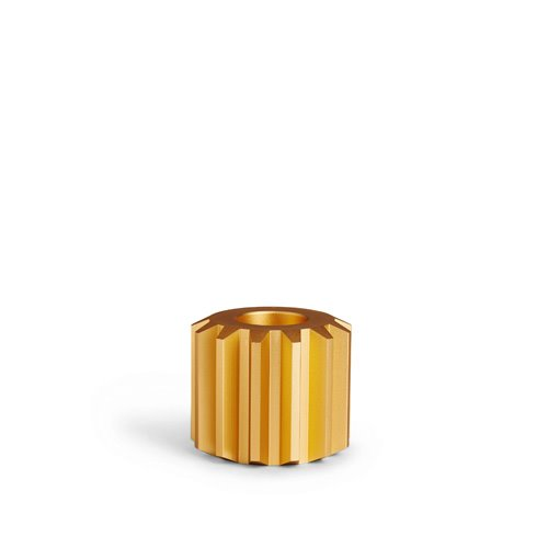 Gear Candle Holder Gold Wide (30% sale)