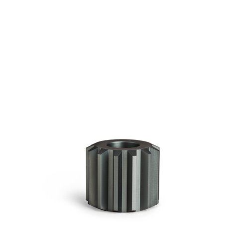 Gear Candle Holder Cold Grey Wide (30% sale)