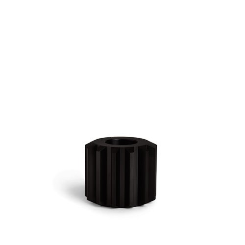 Gear Candle Holder Graphite Black Wide