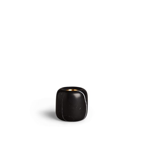 Balance Candle Holder Black Marquina Small (30% sale)
