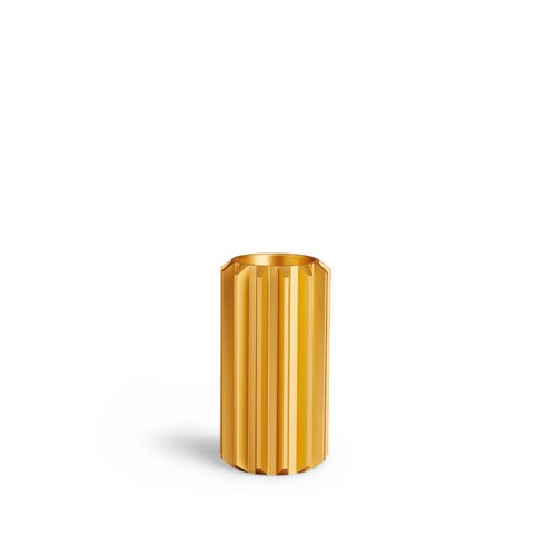 Gear Candle Holder Gold Tall (30% sale)