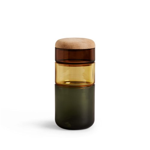 Pi-No-Pi-No Vase Green/Amber/Brown (30% sale)