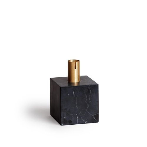 Block Candle Holder Black Maquina
