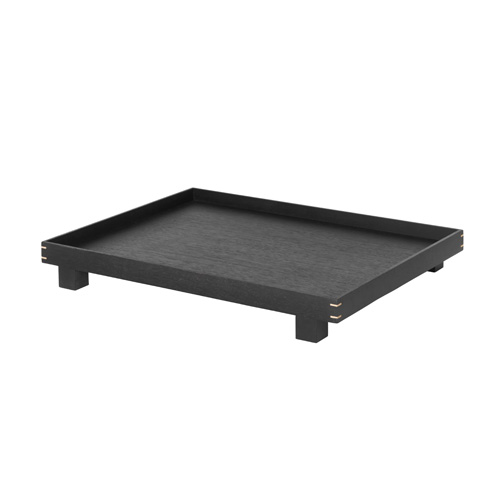 Bon Wooden Tray Large Stained Black [주문 후 3개월 소요]