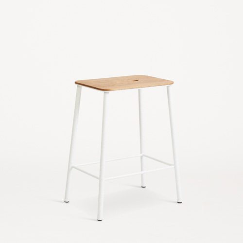 Adam Stool H50  Oak/Matt White  현 재고