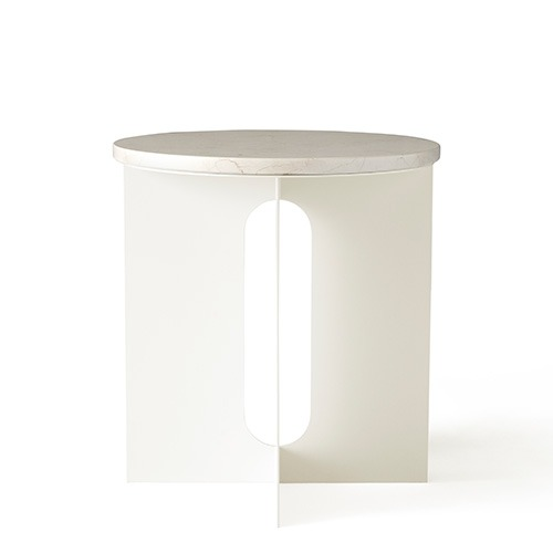 Androgyne Side Table Ivory Steel/Crystal Rose Marble   현 재고