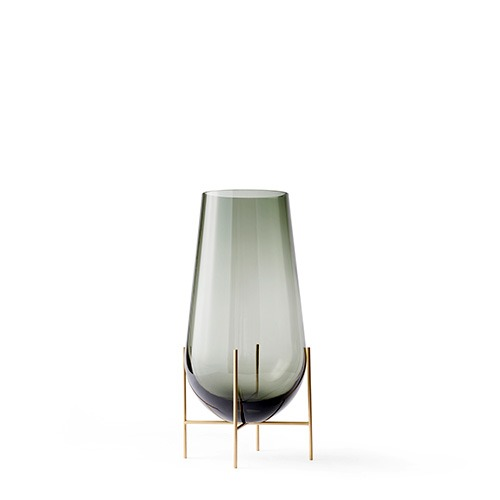 Échasse Vase Small Smoke/Brushed Brass  현 재고