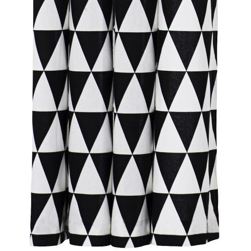 Triangle Shower Curtain - Black