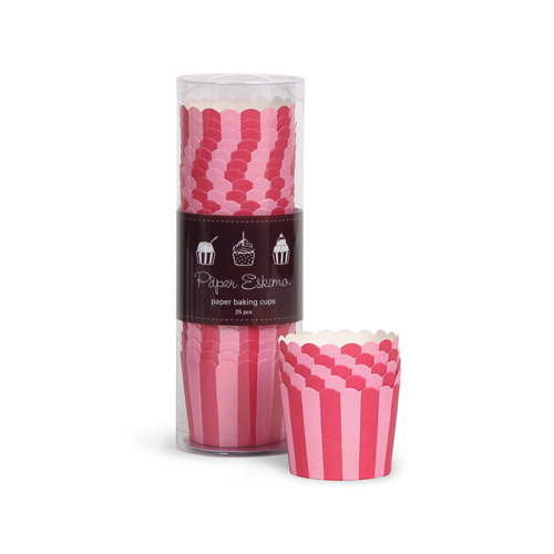 Baking Cup Pink Stripes [1+1]