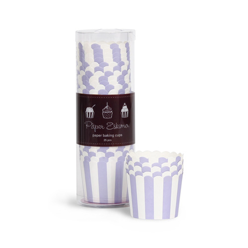 Baking Cup Lilacberry Stripes [1+1]