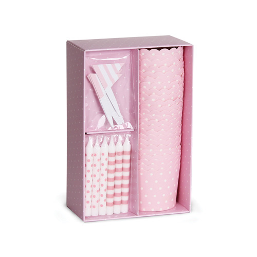 The Cupcake Kit in Pink White Spot [1+1]