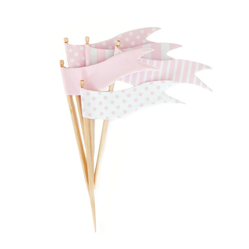 Cupcake Toppers Marshmallow Flags [1+1]