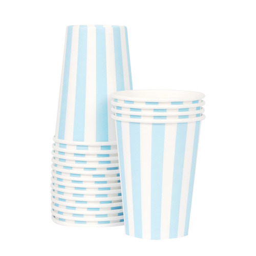Paper Cups Powder Blue [1+1]