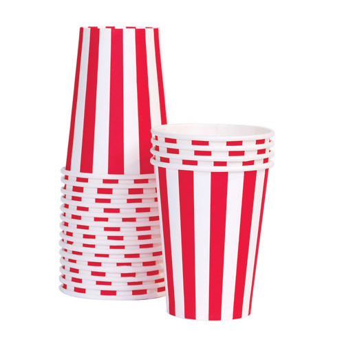 Paper Cups Candy Cane Red [1+1]