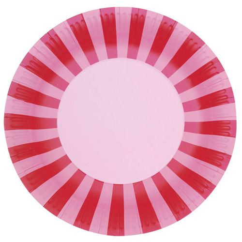Paper Plates Pink Floss