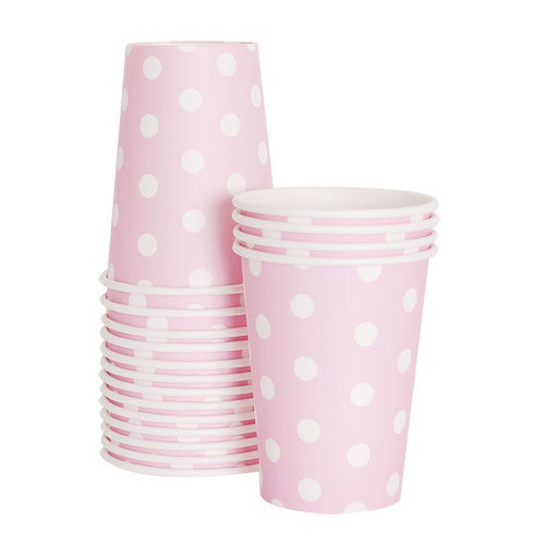 Paper Cups Marshmallow Pink