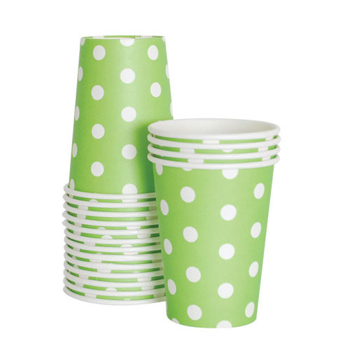 Paper Cups Apple Green [1+1]