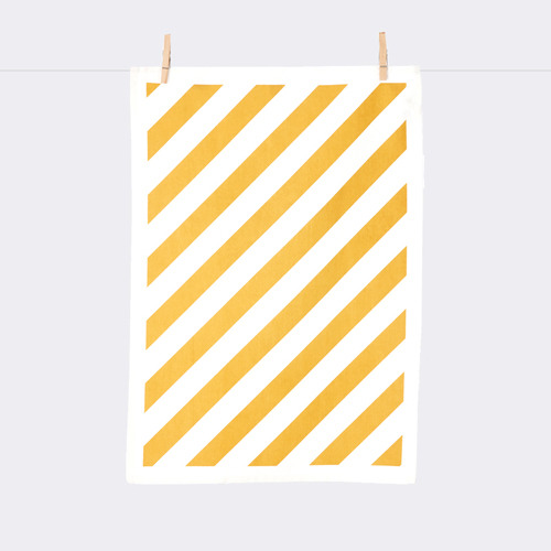 Stripe Tea Towel - Curry
