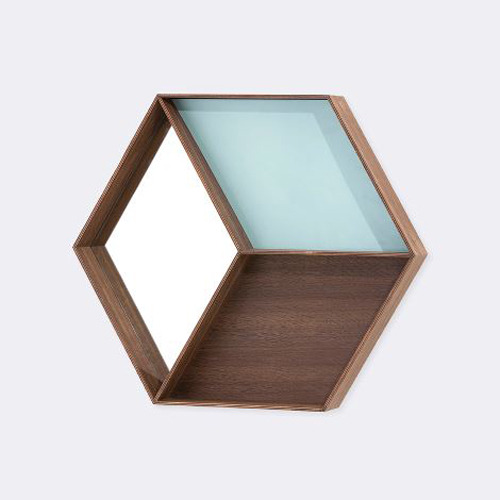 Wall Wonder Mirror- Smoked oak