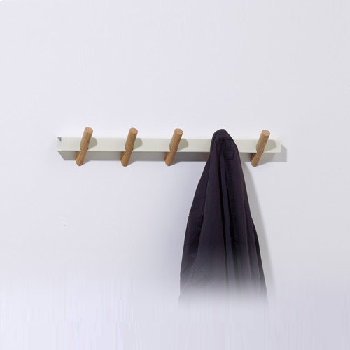Crosscut coat 5 hooks cream