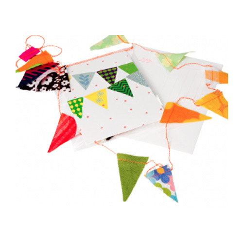 Postcard with Small Bunting (30% sale)