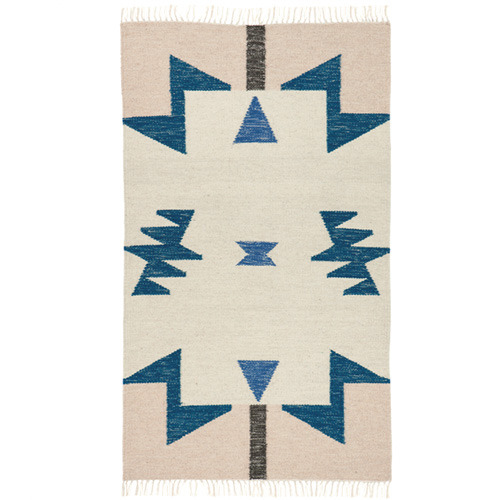 Kelim Rug Blue Triangles Small (20% sale)