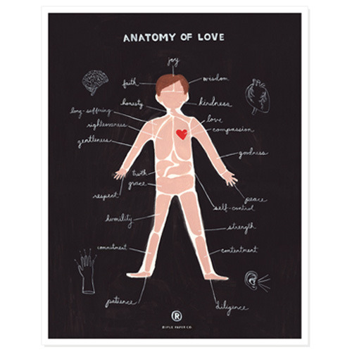 Anatomy of Love Print (30% sale)
