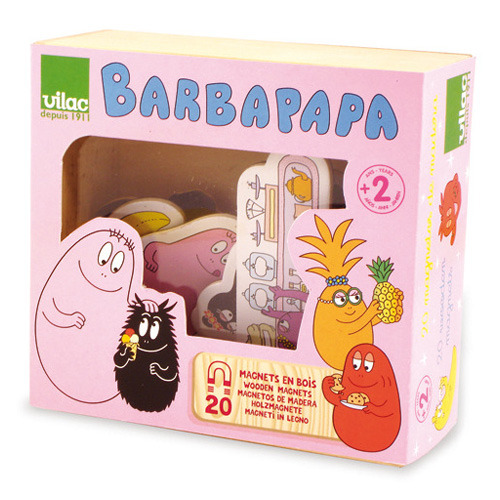 Barbapapa Wooden Magnets