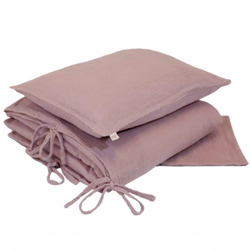 Duvet Cover Set Single Dusty Pink