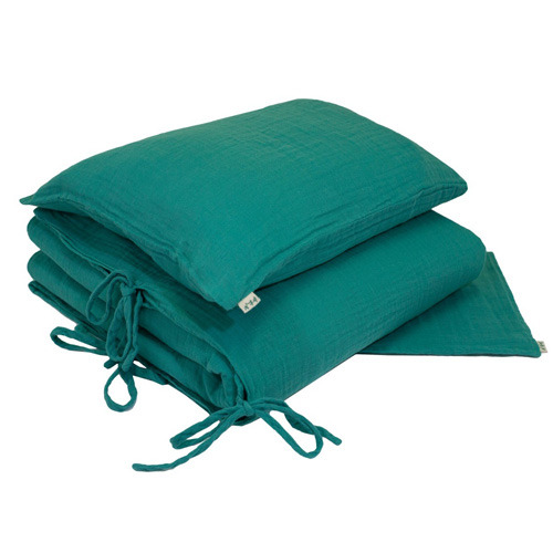Duvet Cover Set Single Aqua Blue