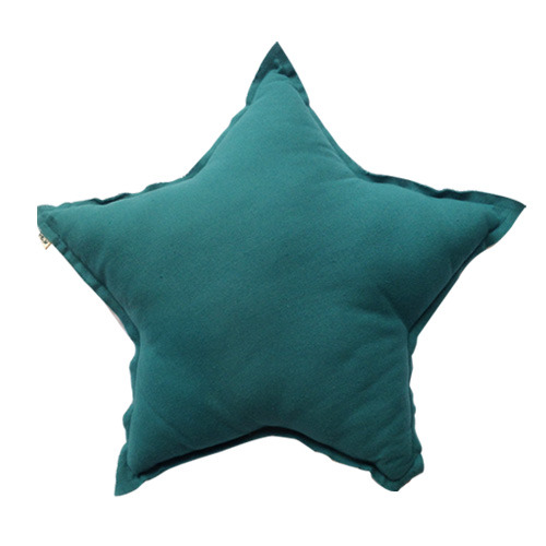 Star Cushion Teal Blue