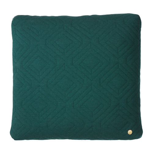 Quilt Cushion Dark Green 45x45 (30% sale)