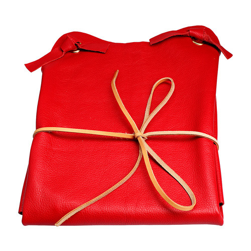 Leather Red Apron (50% sale)