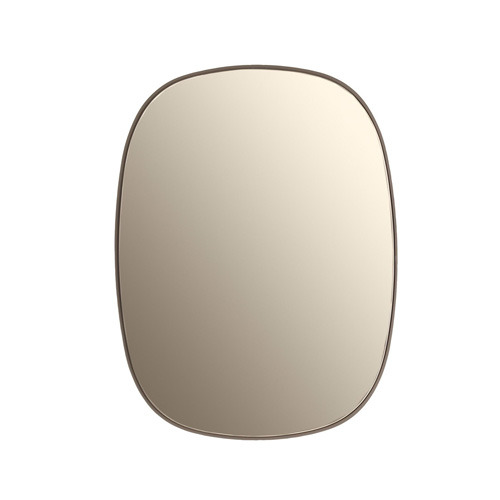 Framed Mirror Taupe Small