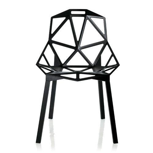 Chair_One 4 Legs Black