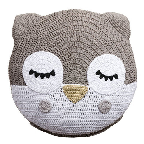 Grey Owl Snuggle Cushion