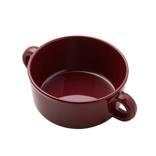 Forest Soup Bowl Burgundy