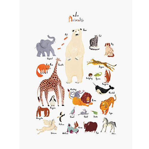 ABC animals 50x70cm